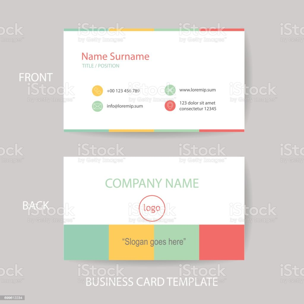 Vector modern and clean business card design template stock vector vector modern and clean business card design template royalty free stock vector art reheart Images