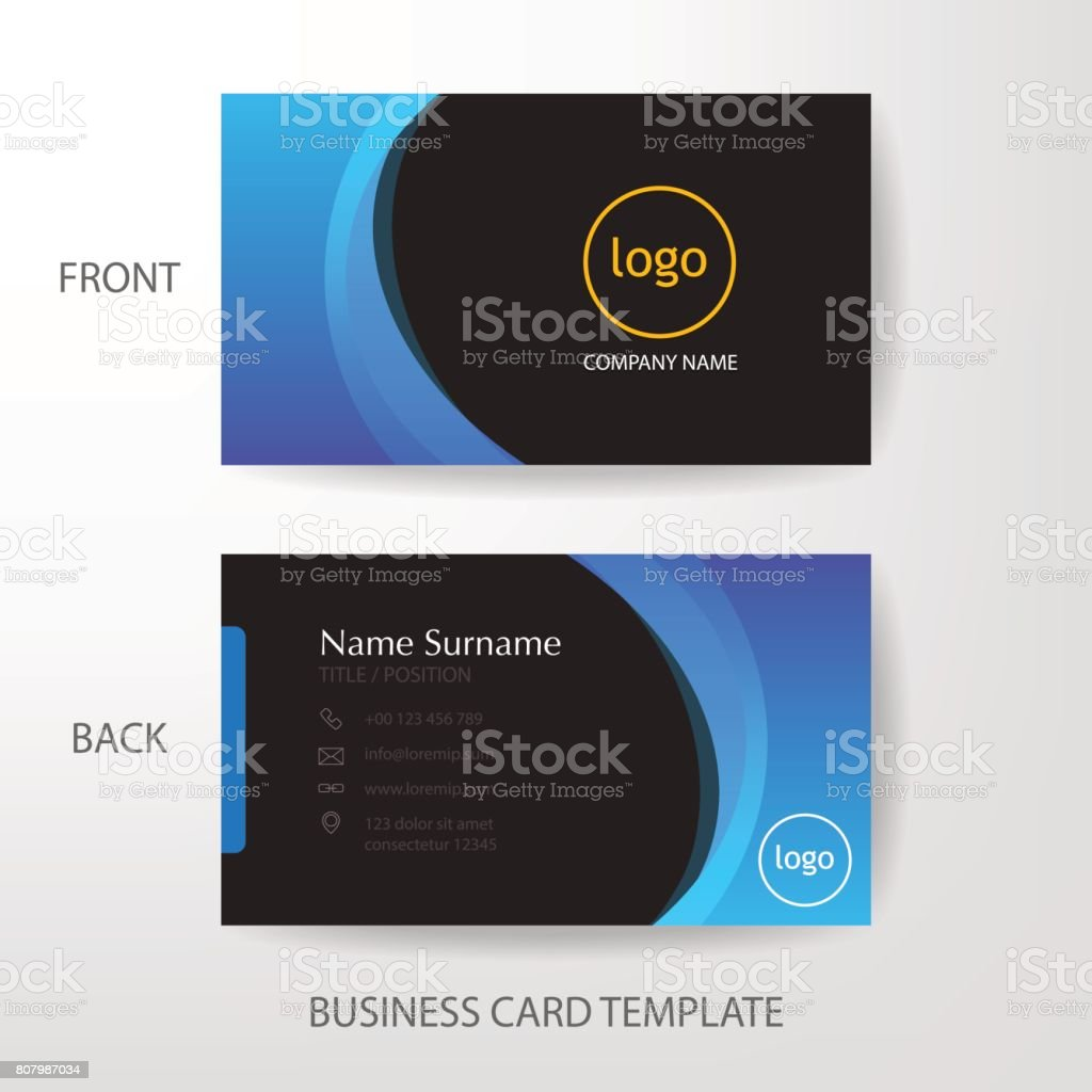 Vector modern and clean business card design template stock vector vector modern and clean business card design template royalty free stock vector art magicingreecefo Choice Image