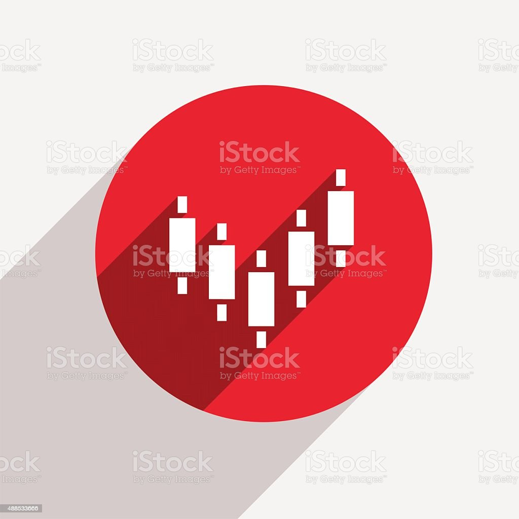 Vector modern binary options red circle icon vector art illustration