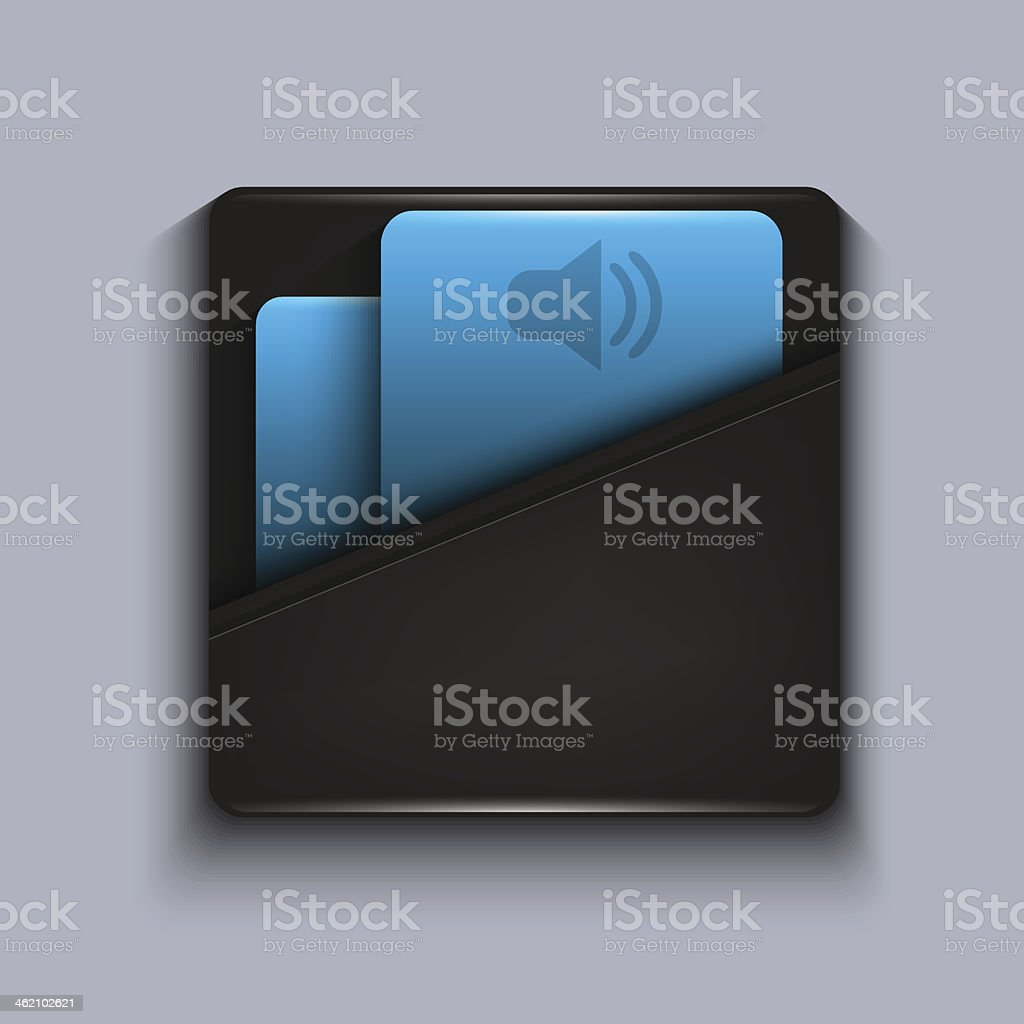 Vector modern blue icon on gray background. Eps10 royalty-free stock vector art