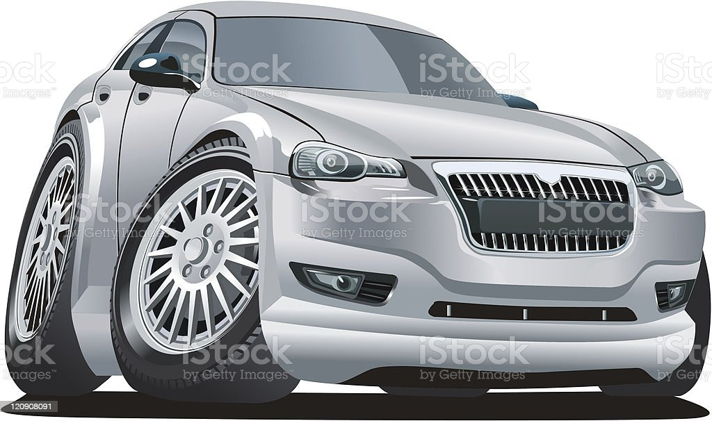 Vector modern cartoon car royalty-free stock vector art