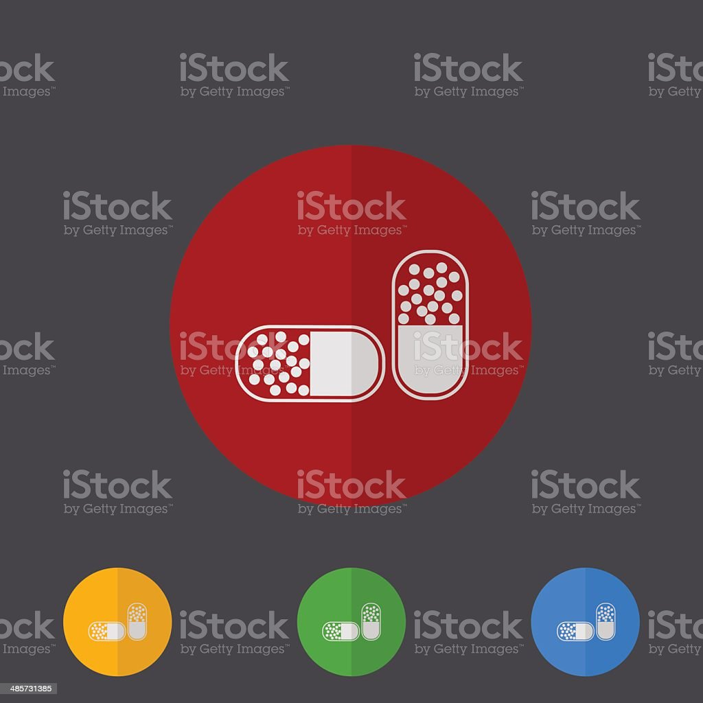 Vector modern circle icons set on gray royalty-free stock vector art