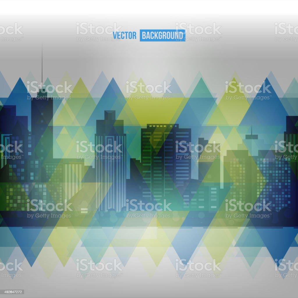 Vector modern city. vector art illustration