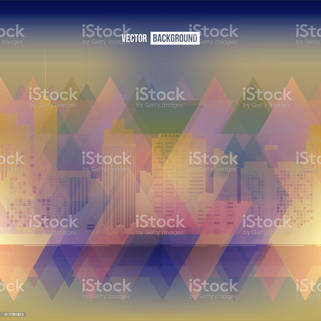 Vector modern city vector art illustration