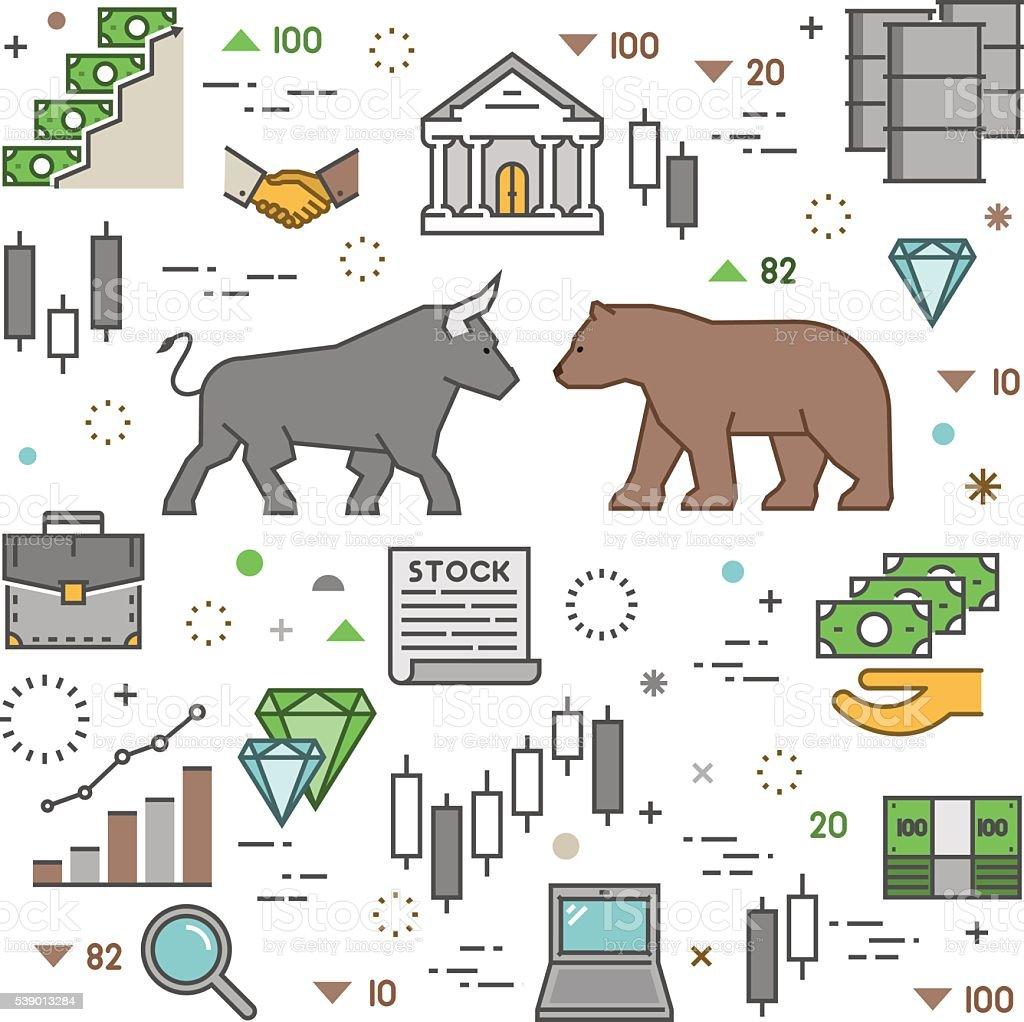Vector modern concept of stock market. vector art illustration