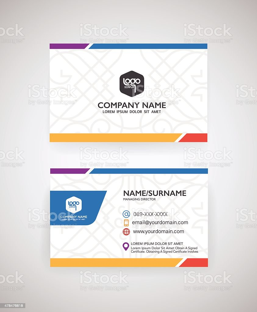 Vector modern creative and clean business card template vector art illustration