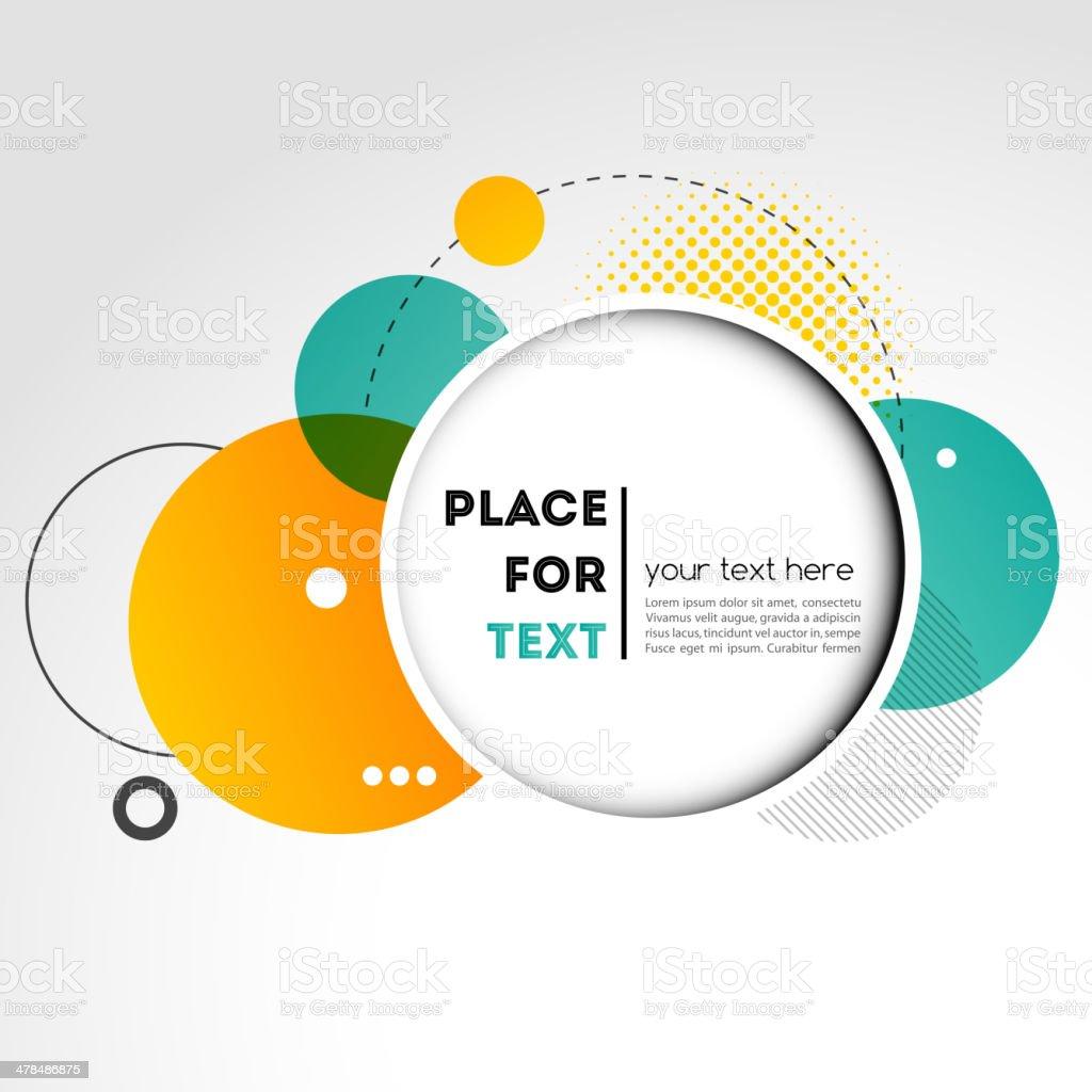 Vector Modern Design Circle template vector art illustration