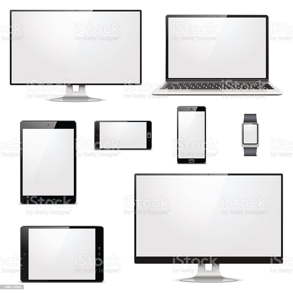 Vector Modern Electronic Devices vector art illustration