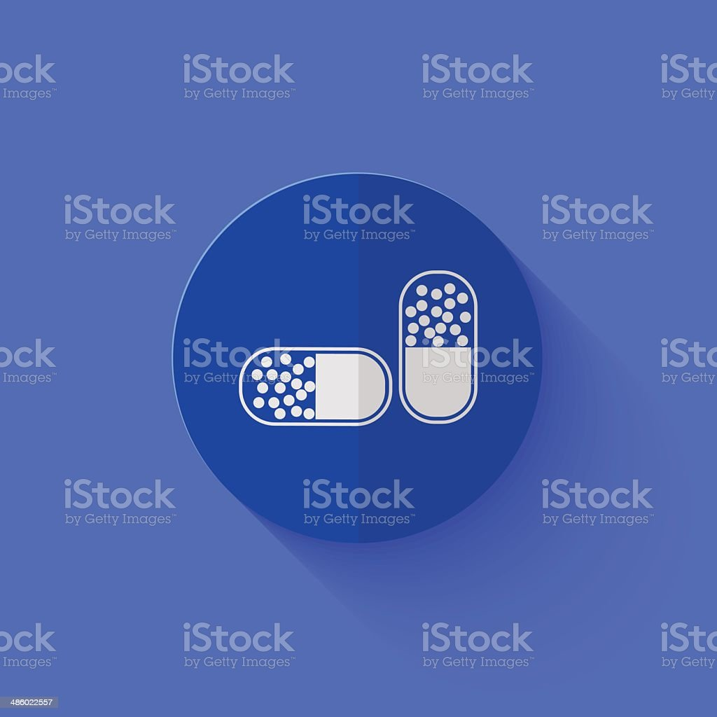 Vector modern flat blue circle icon. royalty-free stock vector art