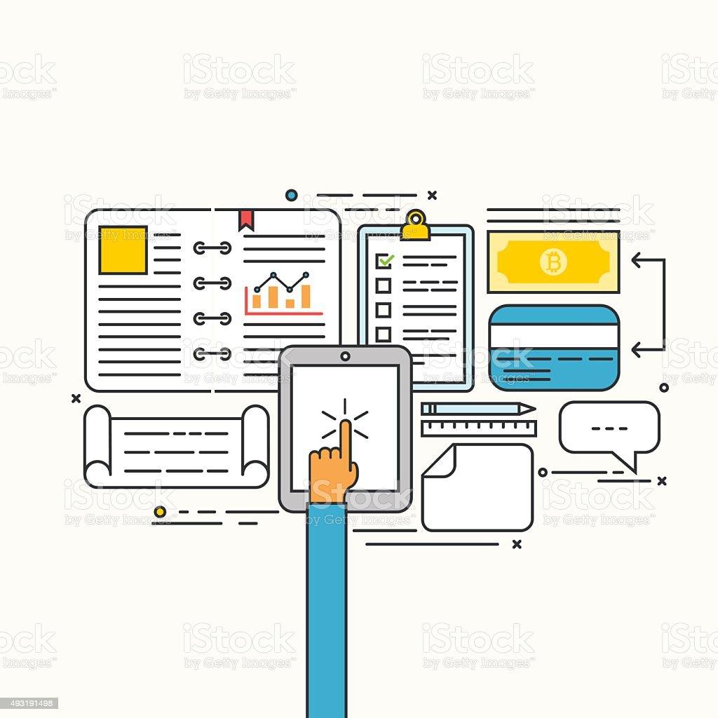 Vector modern flat design of business strategic vector art illustration