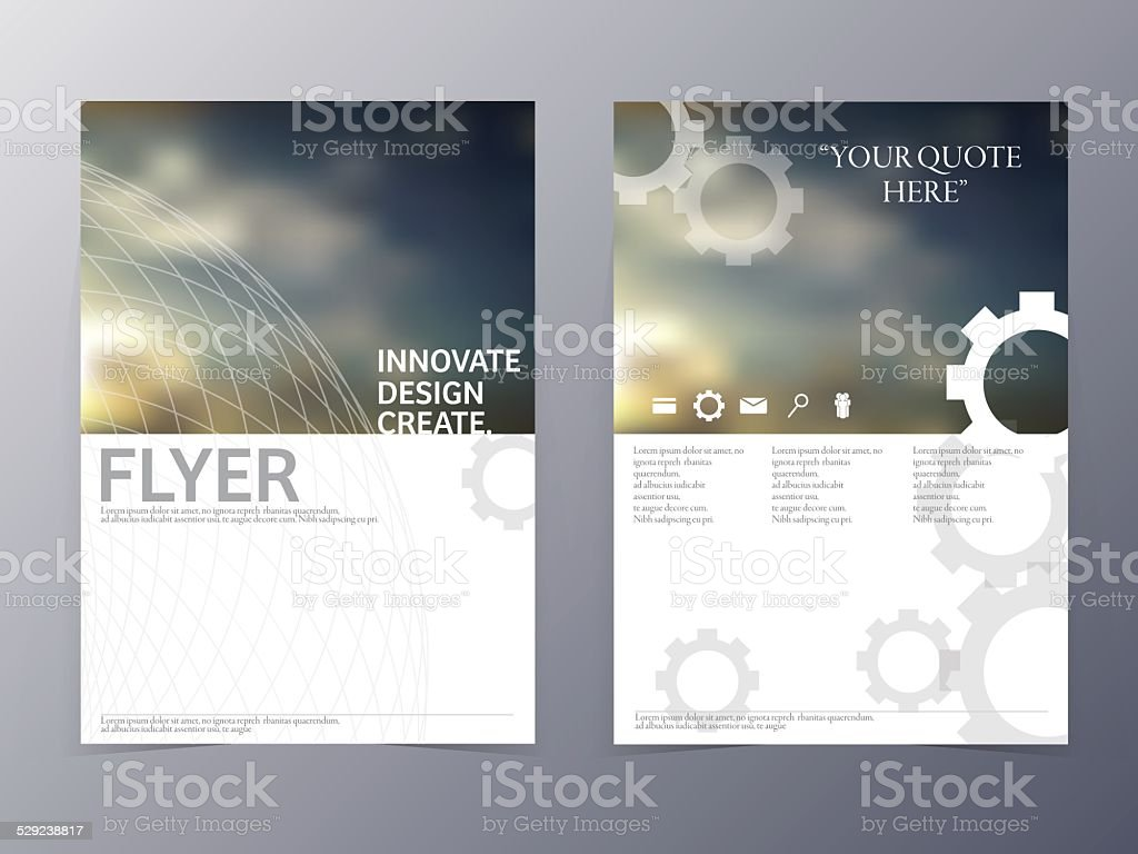 vector modern flyer design template vector art illustration
