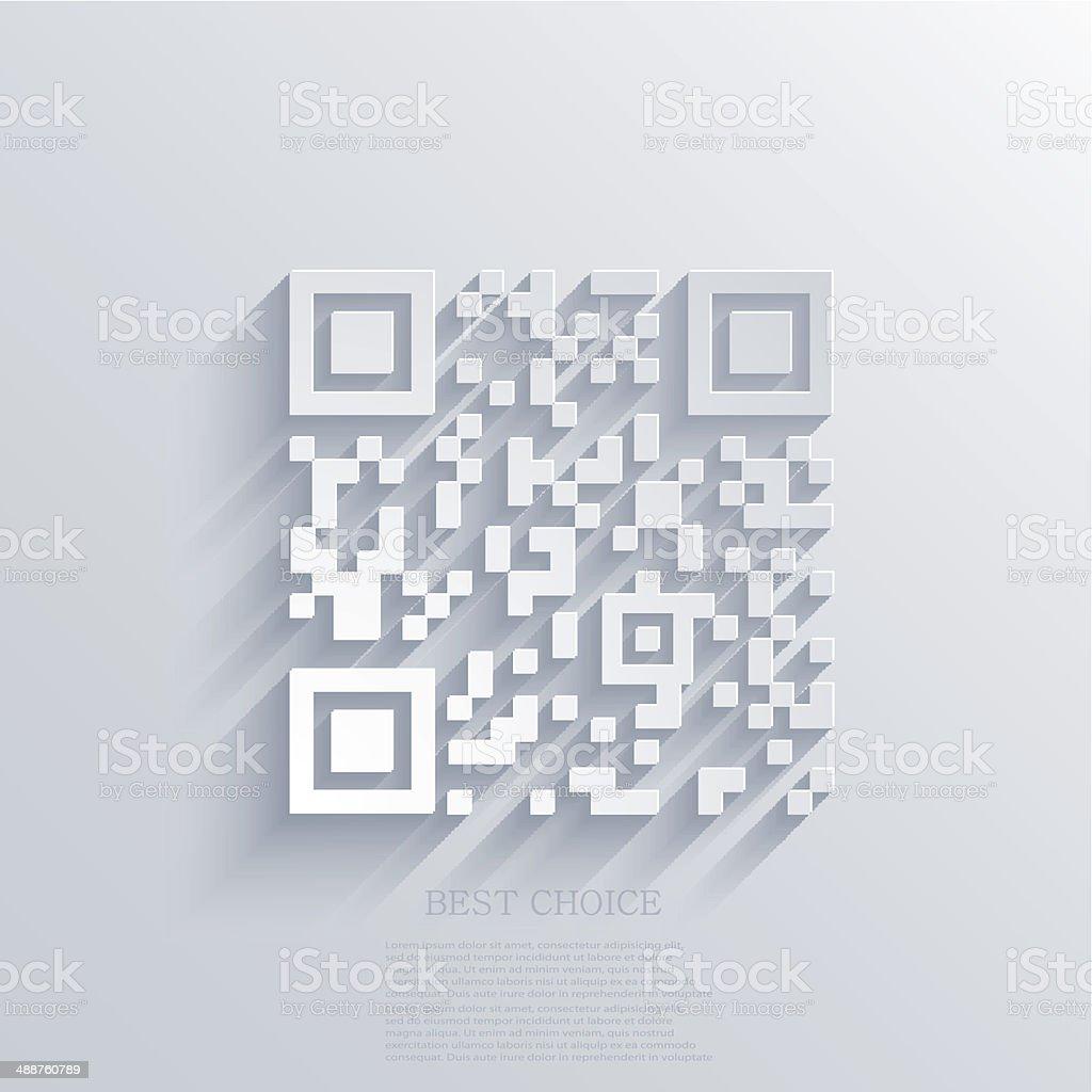 Vector modern qr code background vector art illustration