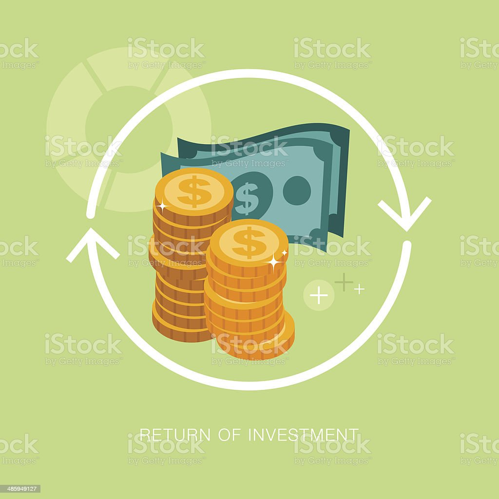 vector modern return of investment concept illustration vector art illustration