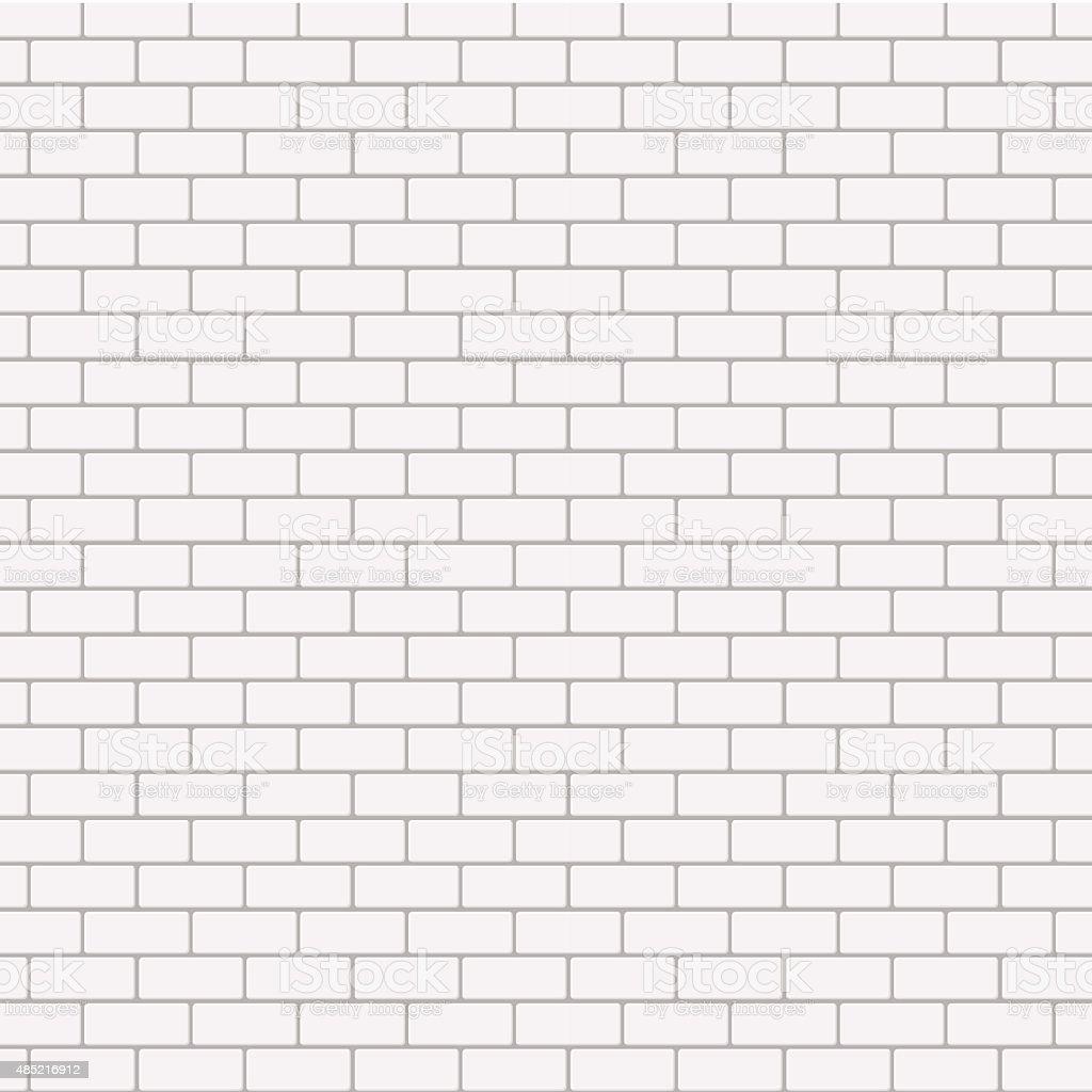 Vector modern seamless white brick background vector art illustration