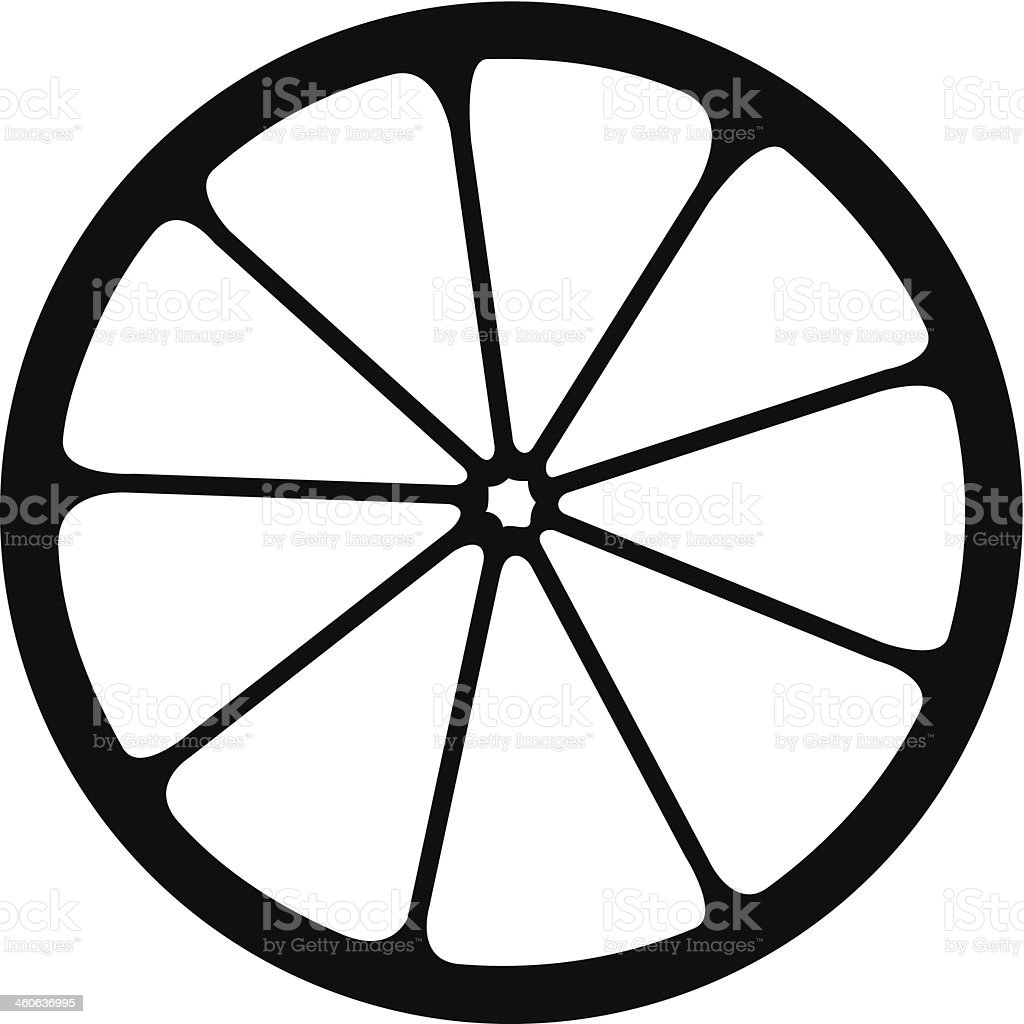 Vector monochrome illustration of citrus logo. royalty-free stock vector art
