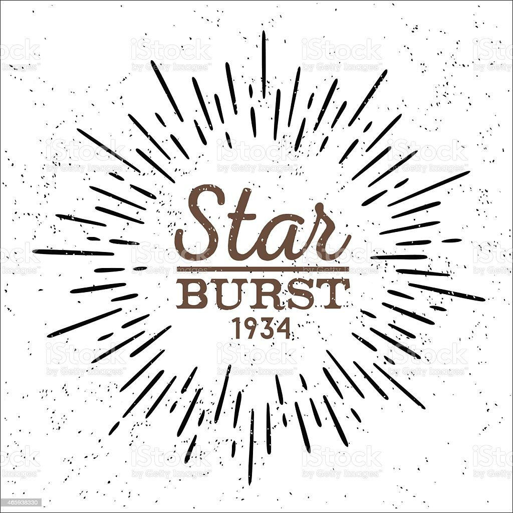 vector monochrome star burst vector art illustration