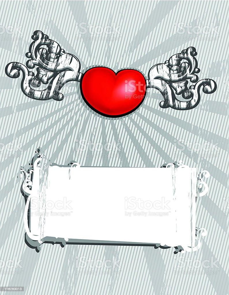 Vector monochrome valentine's card royalty-free stock vector art