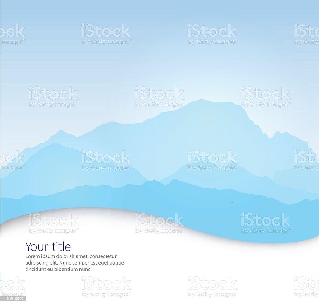 Vector Mont Blanc royalty-free stock vector art