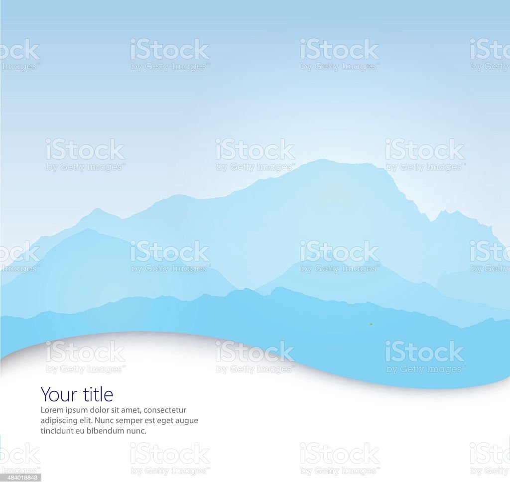 Vector Mont Blanc vector art illustration