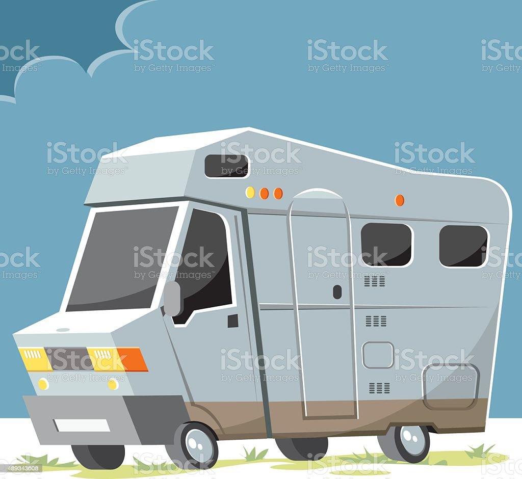 vector motocaravan vector art illustration