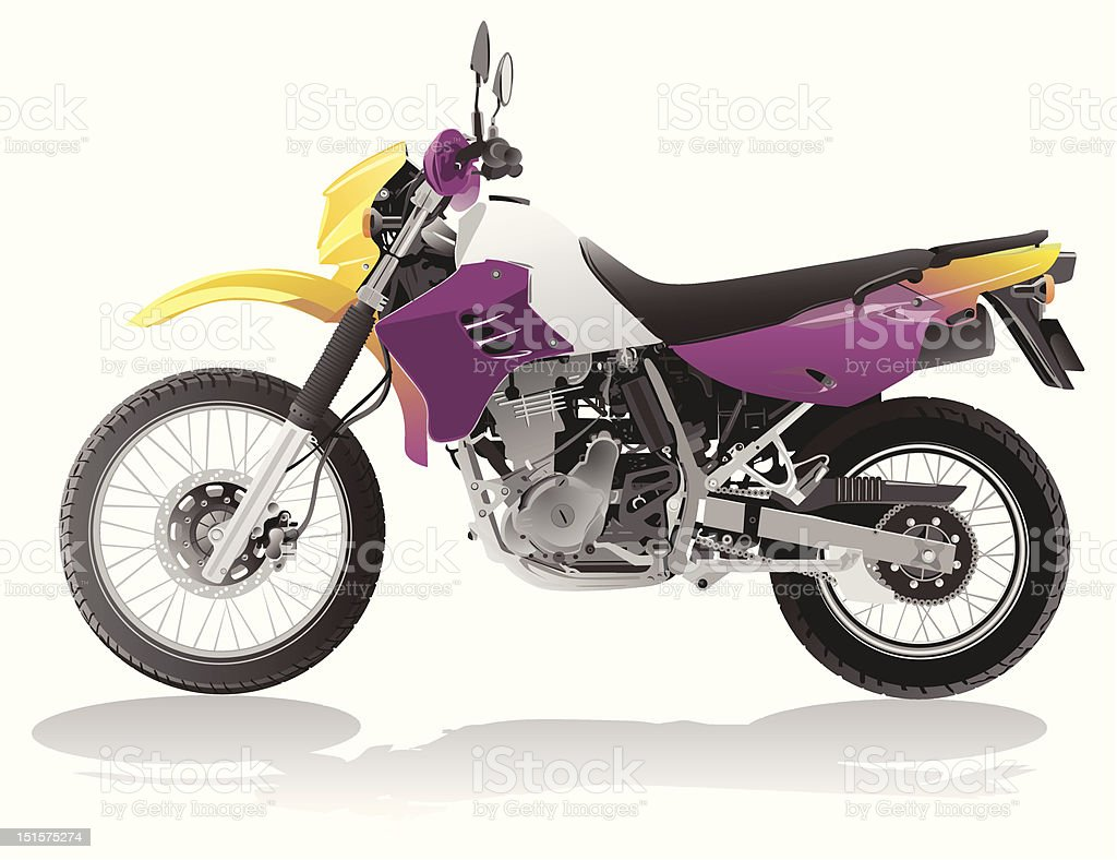 vector motorcycle royalty-free stock vector art