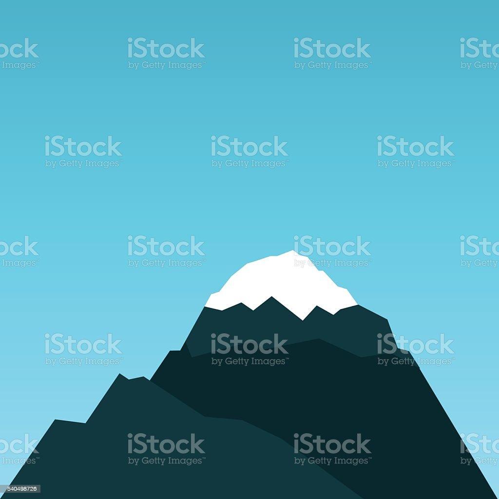 Vector mountain flat illustration vector art illustration