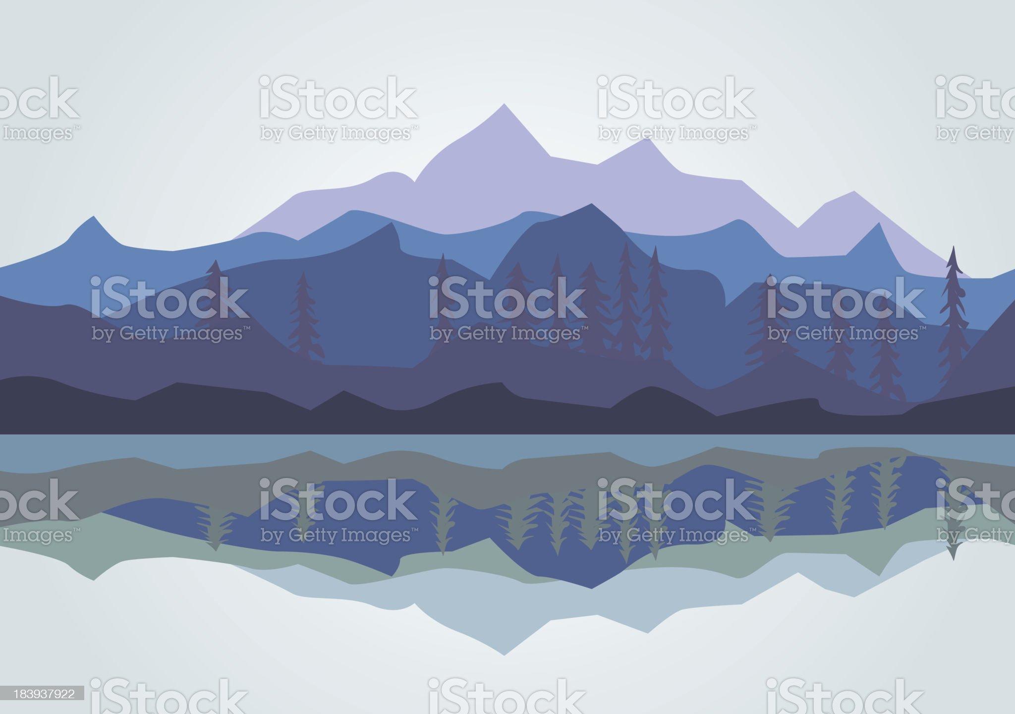 Vector - Mountain royalty-free stock vector art