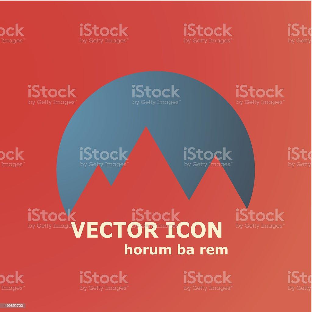 Vector mountains icon vector art illustration