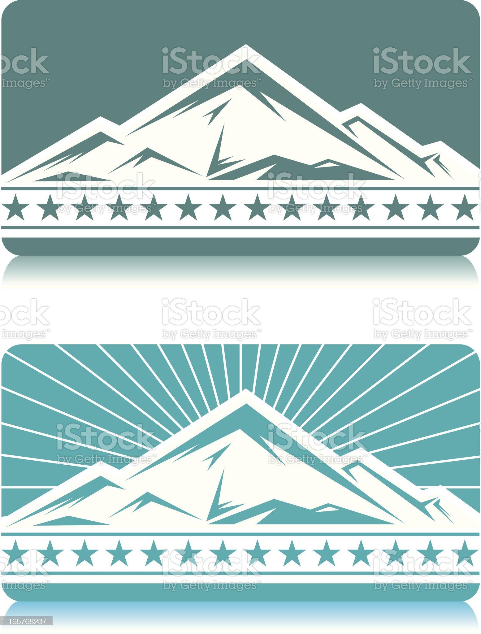 vector mountains royalty-free stock vector art