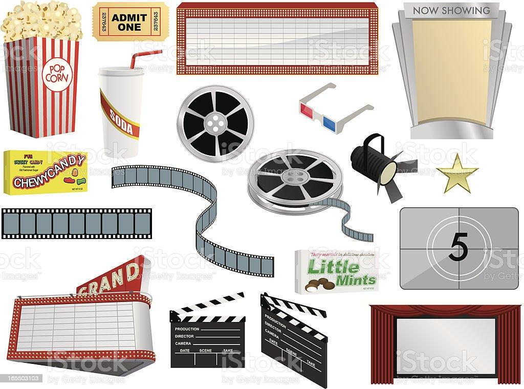 Vector Movie Components royalty-free stock vector art