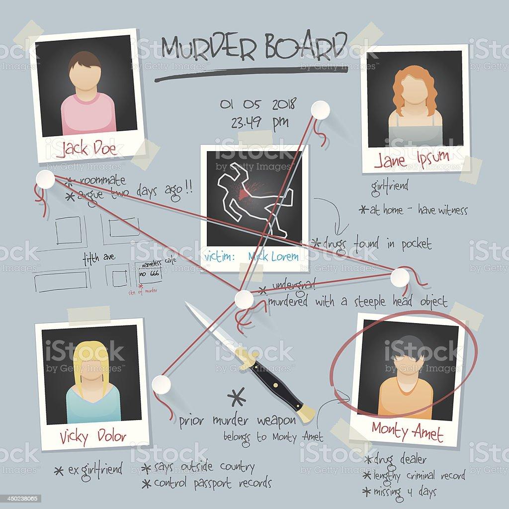 vector murder board background vector art illustration