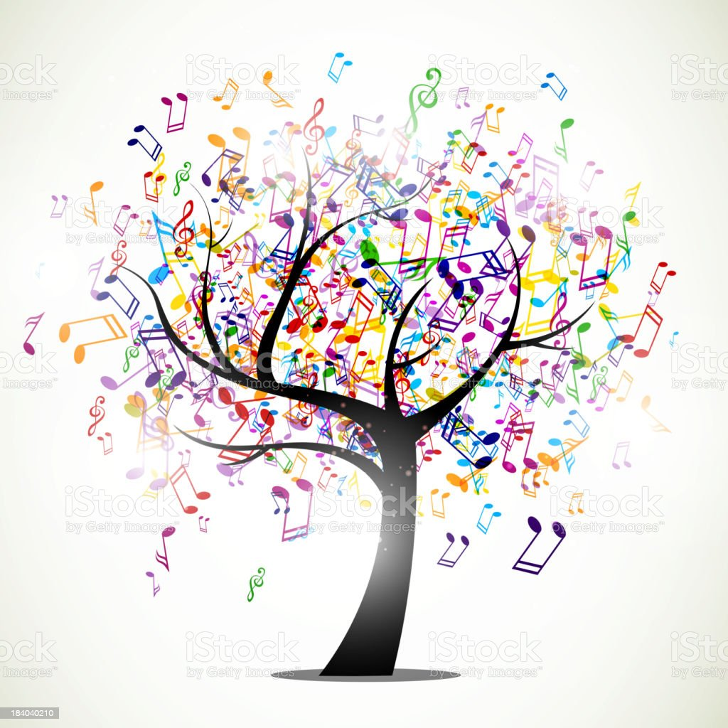 Vector Music Background royalty-free stock vector art