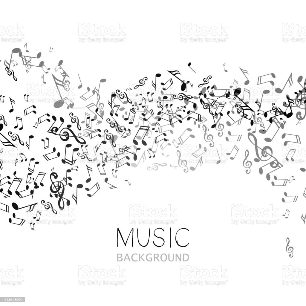 Vector Music Background vector art illustration
