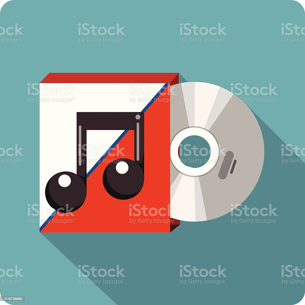 Vector Music CD or DVD Cover vector art illustration