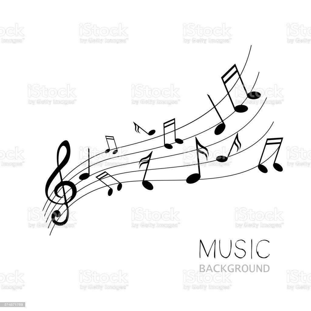 Vector Music Design vector art illustration