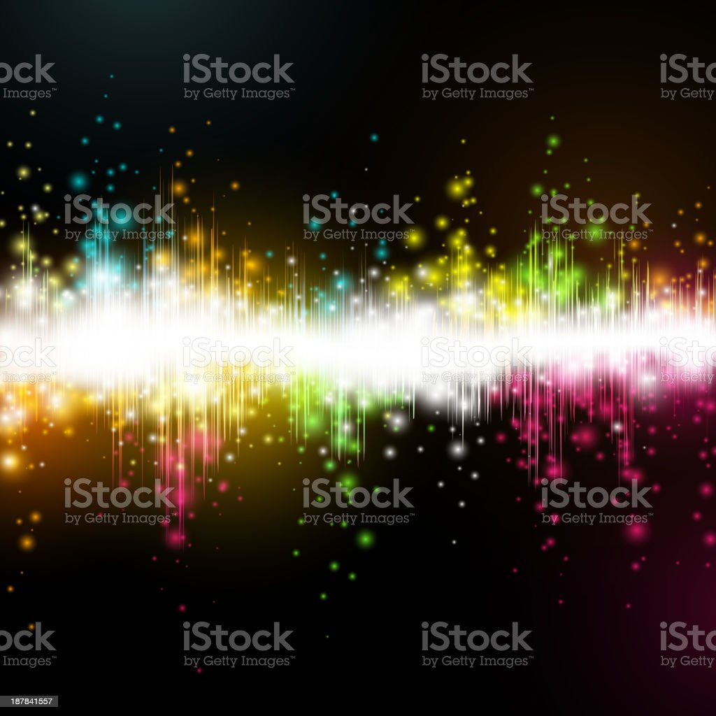 Vector music equalizer wave royalty-free stock vector art