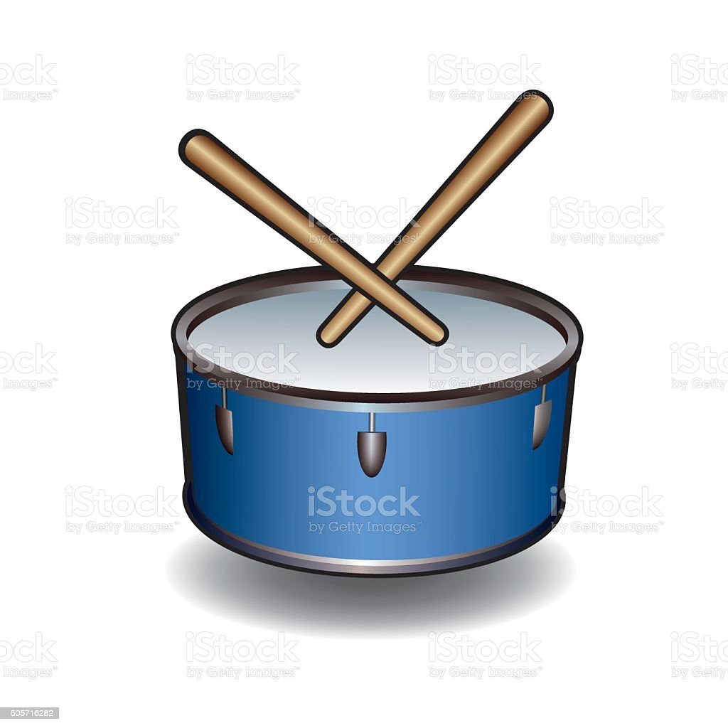 Vector music instrument. Illustration of Drum. vector art illustration