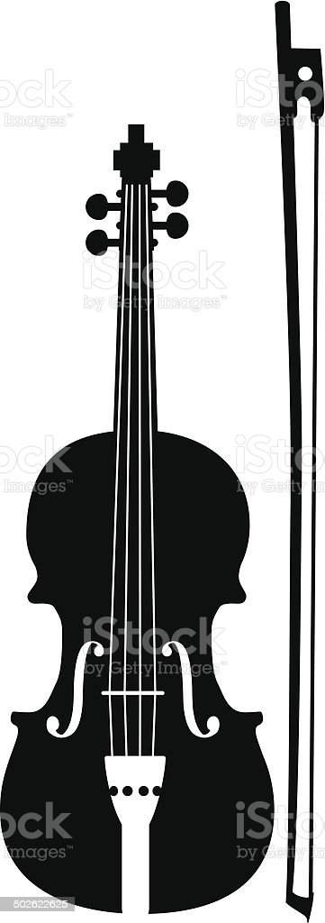Vector Music Instruments - violin vector art illustration