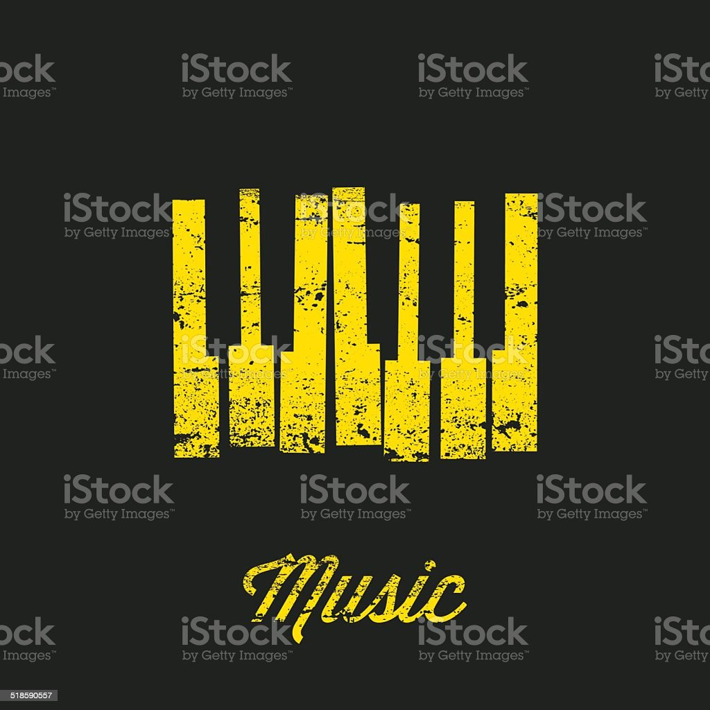 Vector Music keyboard. vector art illustration