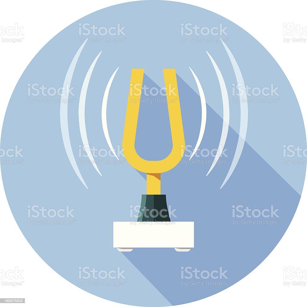 Vector Music Tuning Fork -Diapason vector art illustration