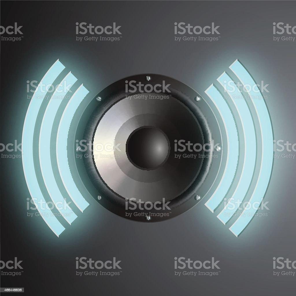 Vector musical speaker vector art illustration