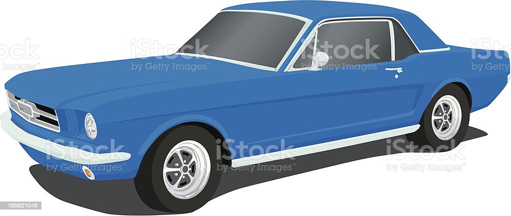 Vector Mustang - 1965 vector art illustration