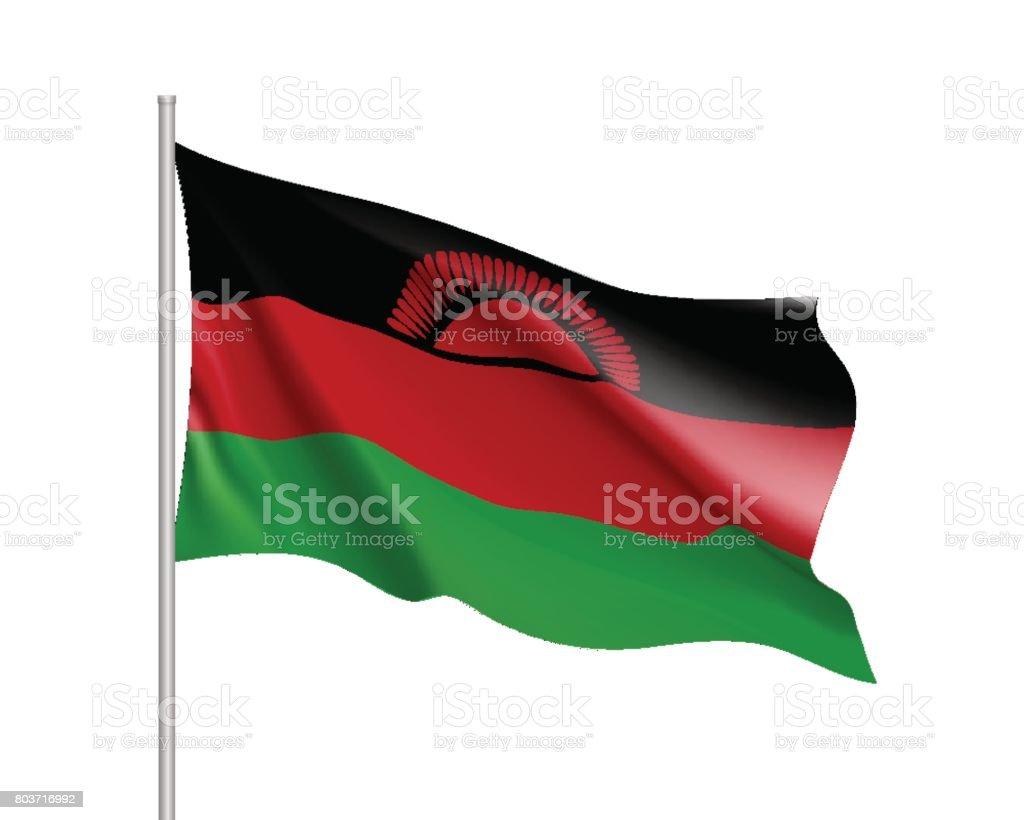 Vector national flag of Malawi. vector art illustration