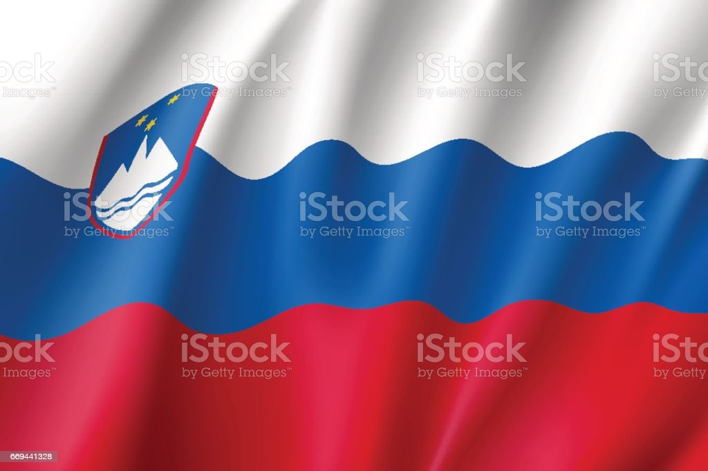 Vector national flag of Slovenia vector art illustration
