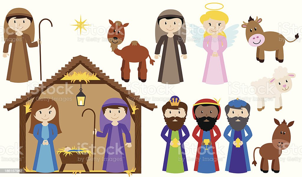 Vector Nativity Collection vector art illustration
