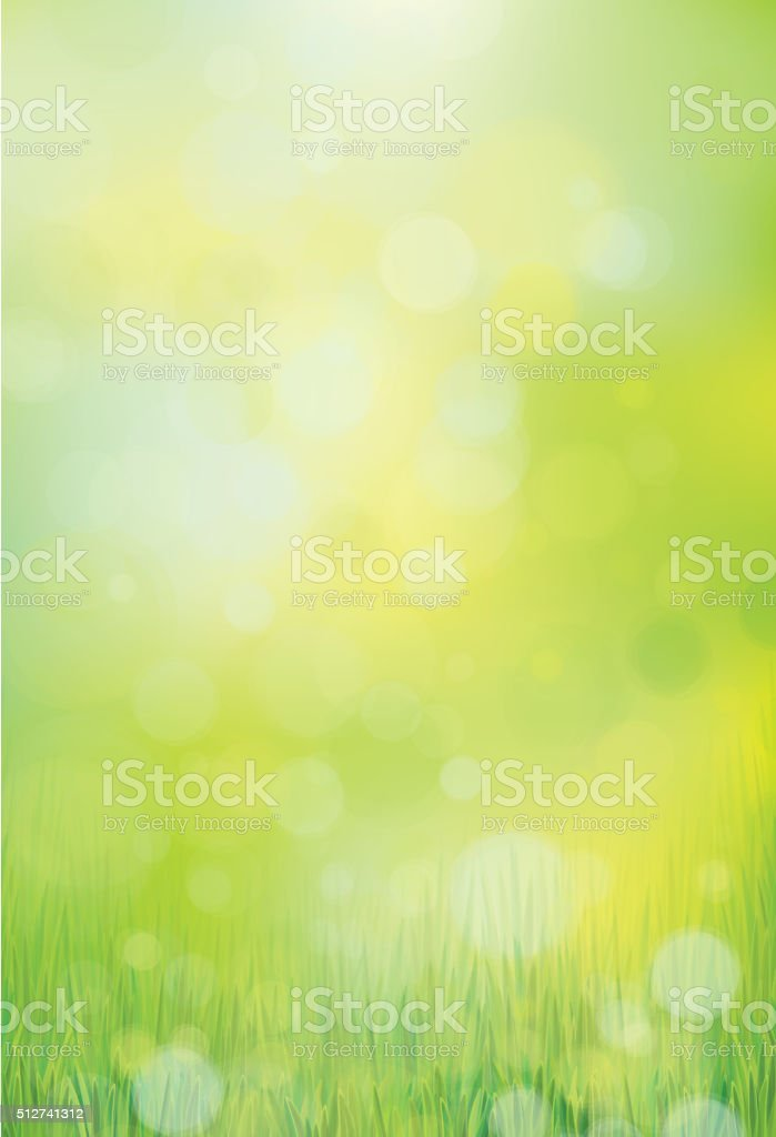 Vector nature background. vector art illustration