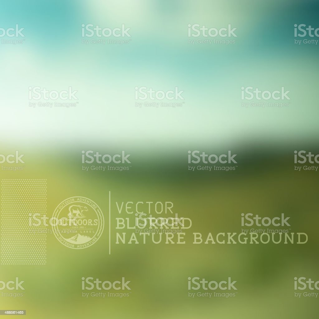 Vector Nature Blurry Background vector art illustration