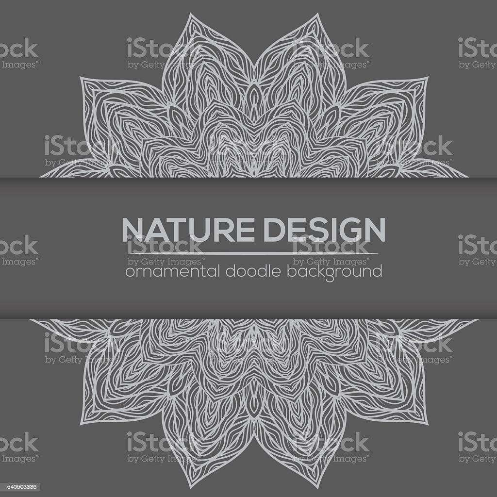 Vector nature decor for your design with abstract flowers. vector art illustration