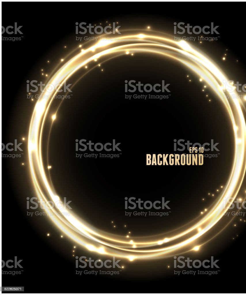 Vector Neon Glossy golden Sphere. vector art illustration