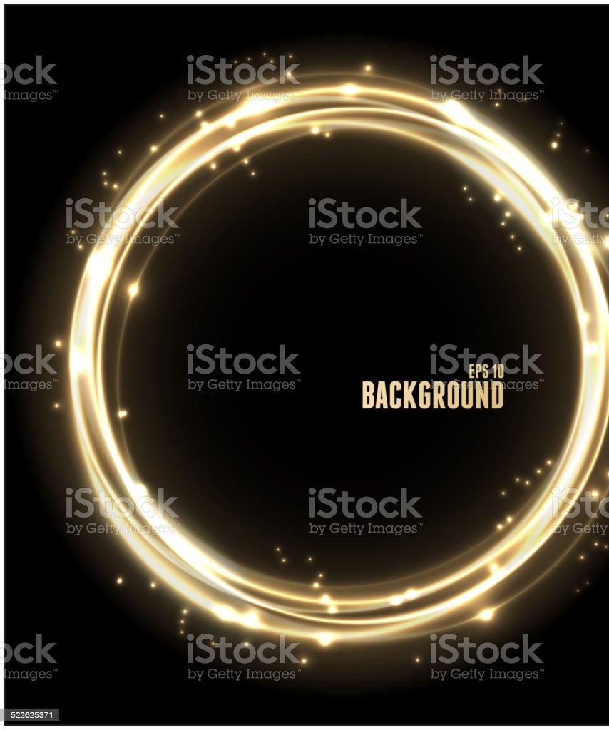 Vector Neon Glossy golden Sphere. vector art illustration
